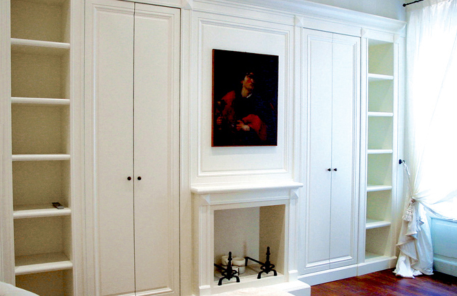 Ivory lacquered closet